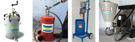 Pompe per l'iniezione di resine